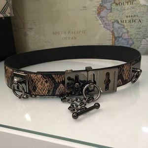 BCBGMaxAzria Faux leather animal print belt size S